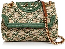 Tory Burch Fleming Soft Straw Small Convertible Shoulder Bag