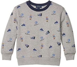 Polo Ralph Lauren Polo Bear Cotton Sweatshirt (Little Kids/Big Kids) (Andover Heather) Boy's Clothing