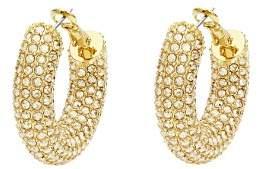 Swarovski x Christopher Kane Bolster Hoop Earrings