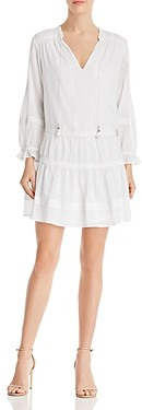 Paige Jaslene Tiered-Skirt Mini Dress