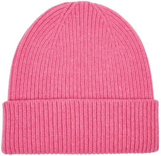 COLORFUL STANDARD Pink Merino Wool Beanie