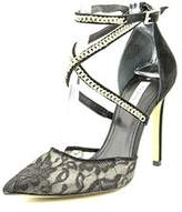 GUESS Adabellely Women Pointed Toe Canvas Black Heels.