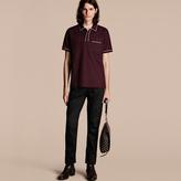 Burberry Piped Cotton Piqué Polo Shirt