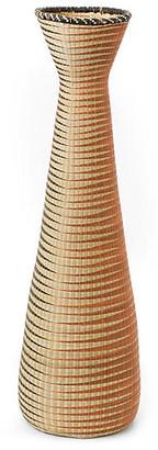 "All Across Africa 28"" Panthera Decorative Floor Vase - Orange/Black"