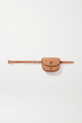 Saint Laurent Kaia Leather Belt Bag - Light brown