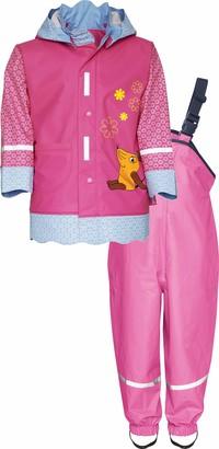 Playshoes Baby Girls' Regen-Set Maus Blumchen Rain Jacket