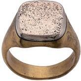 John Varvatos distressed signet ring