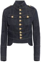 DSQUARED2 Denim Livery Crop Jacket