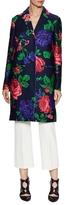 MSGM Floral Printed Midi Coat