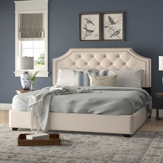 Darby Home Co Devitt Tufted Upholstered Low Profile Storage Platform Bed Color: Gray, Size: King, Number of Drawers: 2