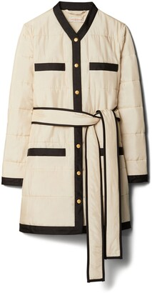Tory Burch Quilted Long Jacket