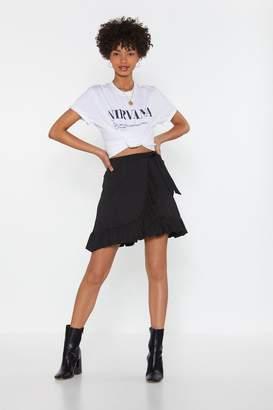 Nasty Gal Womens Dressed To Frill Wrap Mini Skirt - Black - Xs