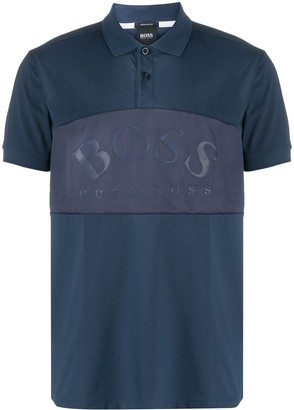HUGO BOSS Mesh-Panel Logo Polo Shirt