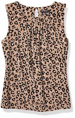 Tommy Hilfiger Women's Animal Print Bead Neck Sleeveless Knit Top