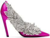 Balenciaga Pink Satin Sequin Heels