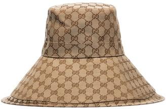 Gucci GG Supreme wide-brim hat