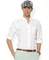 Polo Ralph Lauren Shirt, Custom-Fit Linen Button-Down Shirt