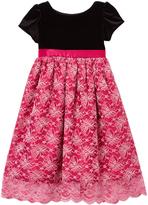 Dimples Fushsia Lace Velvet A-Line Dress - Infant & Toddler