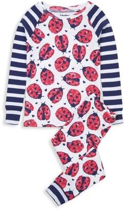 Hatley Little Girl's & Girl's 2-Piece Love Bugs Organic Cotton Pajama Set
