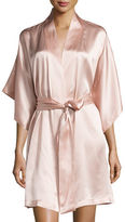 Natori Jasmine Short Silk Wrap Robe