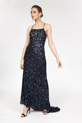 Coast All Over Sequin Cross Over Back Maxi Dress