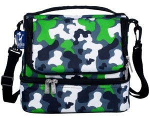 Wildkin Green Camo Two Compartment Lunch Bag