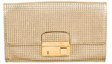Michael Kors Embossed Metallic Leather Clutch
