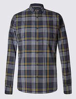Blue Harbour Pure Cotton Long Sleeve Gingham Shirt