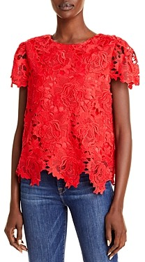 Milly Floral Lace Top