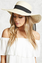 Forever 21 Wide-Brim Straw Floppy Hat