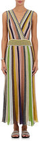 Missoni Women's Metallic Striped Maxi Dress-Pink