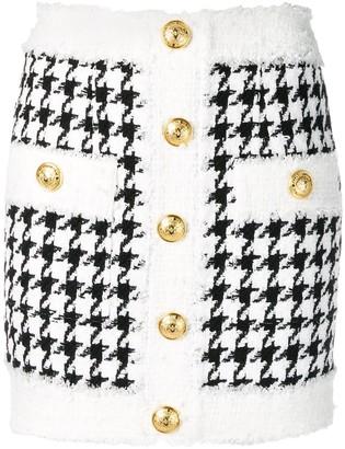 Balmain Tweed Knit Mini Skirt