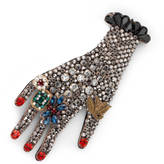 Gucci Hand brooch in metal with glass beads
