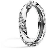 Pandora Ring - Sterling Silver & Cubic Zirconia Ribbon of Love