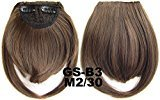 #2_30M 100% High Temperature Synthetic Fiber Clip In/On Front Hair Fringe Hair Bangs