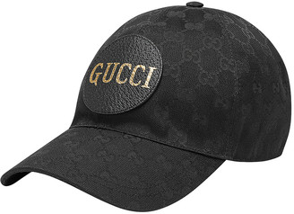 Gucci Gg Canvas Baseball Hat In Black & Black in Black & Black | FWRD