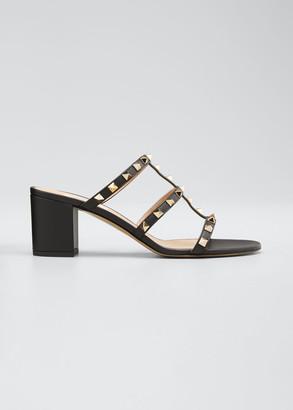 Valentino Garavani Rockstud Caged 60mm Slide Sandals