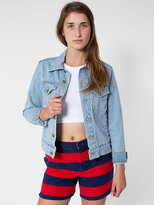 American Apparel Unisex Striped Relaxed Short