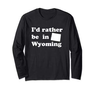 Local Apparel Wyoming And State Gifts Retro Native Wyomingites | Funny Wyoming Long Sleeve T-Shirt
