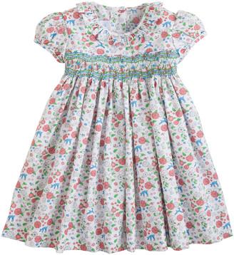Little English Girl's Caroline Smocked Floral Dress, Size 18M-6