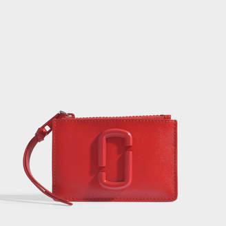 Marc Jacobs Snapshot Dtm Top Zip Multi Wallet In Black Leather