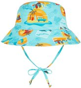 I Play Reversible Bucket Sun Protection Hat (Baby/Toddler) - Aqua Surf Sunset - 3-6 Months