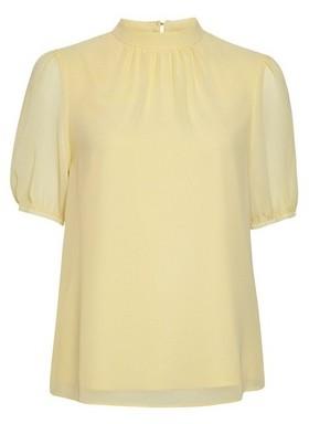 Dorothy Perkins Womens Billie & Blossom Lemon Puff Sleeve Shell Top