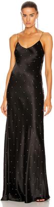 Mason by Michelle Mason Crystal Bias Gown in Black   FWRD