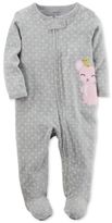 Carter's Printed Mouse Cotton Footed Coverall, Baby Girls (0-24 months)