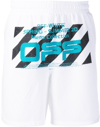 Off-White Wavy Line mesh shorts