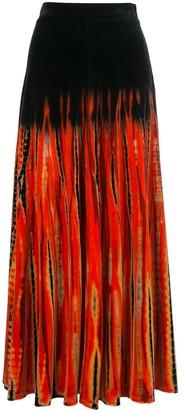 Proenza Schouler Velvet Tie-Dye Skirt