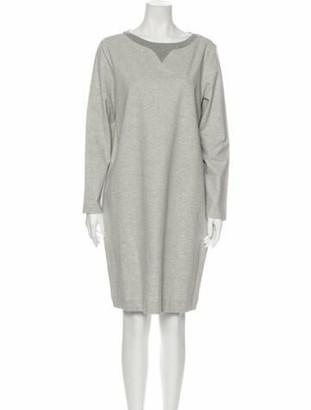 Fabiana Filippi Bateau Neckline Knee-Length Dress w/ Tags Grey