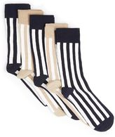 Topman Assorted Colour Stripe Socks 5 Pack