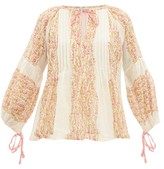 D'Ascoli Meadow Floral-print Cotton Blouse - Womens - Pink
